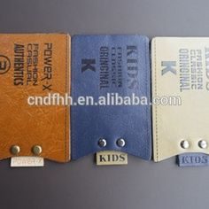 Source new style pu leather sewing labels with mrtal badge for jeans on m.alibaba.com