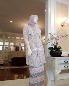 Image may contain: people standing and indoor Kebaya Modern Hijab, Model Kebaya Modern, Kebaya Hijab, Kebaya Muslim, Batik Fashion, Abaya Fashion, Muslim Fashion, Fashion Dresses, Kebaya Lace