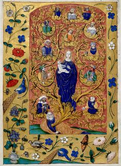 Tree of Jesse - Genealogy of Christ | London BL - MS Harley 1892, fol-31v
