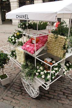Chanel Flower-Stall, Covent Garden. We love shops and shopping - seanmurrayuk.com, www.facebook.com/ShoppedInternational and @Jenny Winegeart