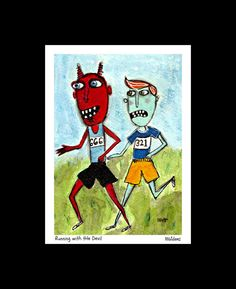 Running with the Devil  signed and matted by MurphyAdamsStudio, $20.00