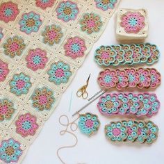 How to Crochet Flower, Make a Granny Square and Join Them 👕 Get your T-Shirt, Mug, Tote Bag, Case phone. and more perfect for your family members and friends by… Crochet Pattern - Check this out now! Benzer Çalışmalar No related posts. Point Granny Au Crochet, Granny Square Crochet Pattern, Crochet Blocks, Crochet Squares, Crochet Motif, Crochet Flowers, Crochet Afghans, Crochet Blanket Patterns, Baby Blanket Crochet