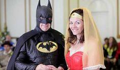 Batman and Wonder Woman Tie the Knot in a Superhero Wedding #romance trendhunter.com