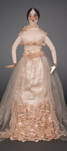 """""""Rose Poupon"""", a very rare Jeanne Lanvin fashion figure (1921)~ Image © FIDM Museum. #Lanvin #Lanvin125"""