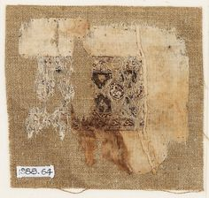 egyptian textile fragment, around 11th century