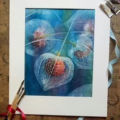 By @richard.tania -  Physalis  This is a painting from last year when i discovered an interesting technique by Cheng-Khee Chee. He pours paints on paper and once it is half-dry he washes out the shapes with a flat brush. Then he builds up volume by adding colour or washing out even more.  Tag #inspiring_watercolors for a chance to be featured.  #watercolors #watercolor #watercolorpainting #aquarelle #akvarell #watercolour #watercolours #painting #watercolorartist #art #artist #inspiration…