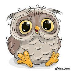 Cute cartoon owl » Vector, Photoshop PSDAfter Effects, Tutorials, Template, 3D,