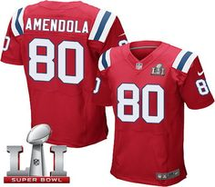 nike patriots 80 danny amendola red alternate super bowl li 51 mens stitched nfl elite