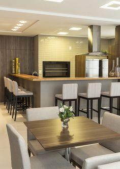 Espaço Gourmet | Área comum | Condomínio | Salão de festas | Projeto Ana Trevisan Arquitetura e Paisagismo Florianópolis - SC