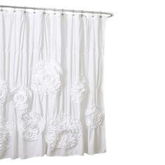 Lush Dcor Serena Flower Texture Shower Curtain : Target