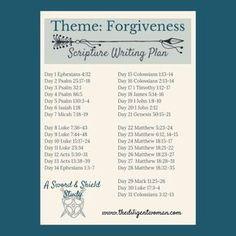 Scripture Writing Plan - Theme: Forgiveness - The Diligent Woman Forgiveness Scriptures, Bible Scriptures, Bible Quotes, Scripture Reading, Scripture Study, Writing Plan, Daily Bible, Wisdom, Faith