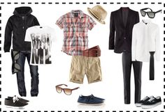 Clothing for a teen boy's photo shoot.