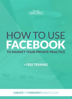 Answers to therapists most common questions about how to use Facebook to market your private practice.