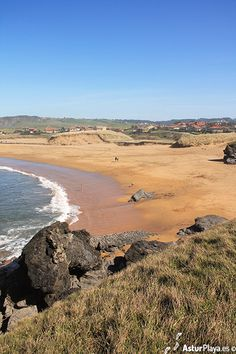 Verdicio beach seen from above, a beautiful place to spend the summer :) In Asturias, Spain!