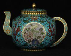 Cloisonne gilt pot of Qing Dynasty QianLong mark.