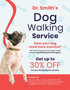 3caa101349a Dog Walking Flyer Dog Walking Flyer, Pet Sitting Business, Dog Walking  Services, Promotional
