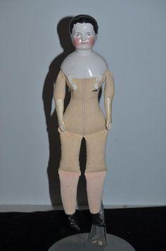 Antique Doll China Head Boy Doll Kestner Kinderkof Circa 1850 Gorgeous