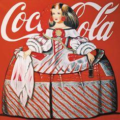 Serie Logotipos .Menina con coca cola