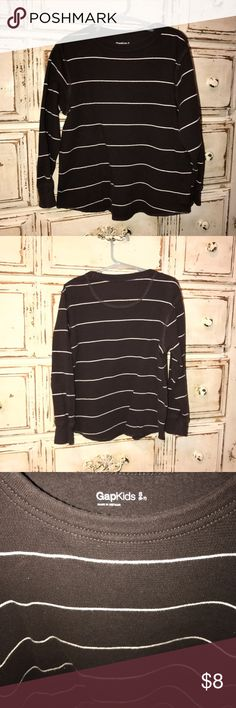 Gap kids thermal wear Boys Gap kids thermal style shirt size 6/7. Dark Brown color with white pinstripes.   Great condition.  Save 30% off with bundles of 3!  Comes from smoke free home ✌🏻 GAP Shirts & Tops Tees - Long Sleeve