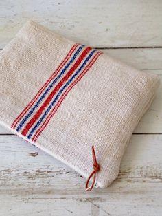 Simple Linen Clutch// Grain Sack Bag // Linen by DunnByDesigns