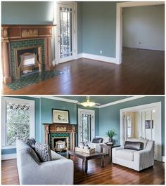 Real-life example of home staging with CORT furniture. What a difference it makes!