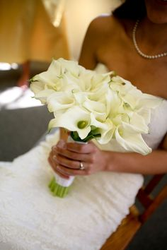 Summerall Citadel Chapel Charleston, SC Wedding Bouquet Calla Lilly