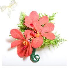Mokara orchid corsage