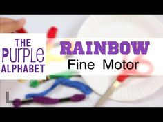 Fine Motor Rainbow Wrap Activity