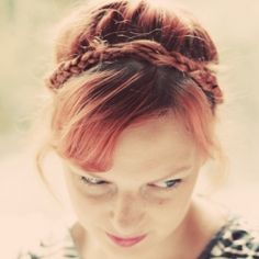 Tutorial on how to create this braided crown for people with thin or shorter hair.