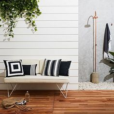 Infuse contemporary style into your outdoor space with the Saraceno Outdoor Cushion from Maison by Rapee. Outdoor Rooms, Outdoor Living, Outdoor Decor, Painted Wood Walls, Country Interior, Outdoor Cushions, Soft Furnishings, Apartment Living, Interior Design Living Room