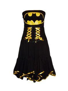 AKASHA  BATMAN Dress PLUS Mask SMALL/MED by MissLovettClothing