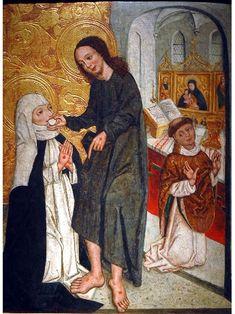 St. Catherine of Siena | http://www.saintnook.com/saints/catherineofsiena - File:Comunione Santa Caterina.jpg