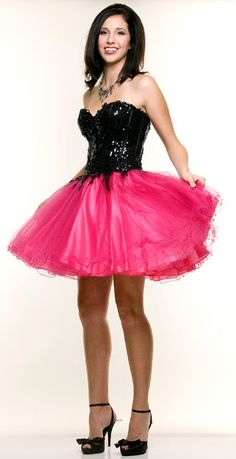 Fuchsia/White Designer Cocktail Dress Tulle Sweetheart Neck Prom Gown $149.99