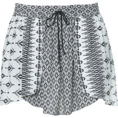Zara Printed Skirt (20 AUD) ❤ liked on Polyvore featuring skirts, shorts, bottoms, short and black