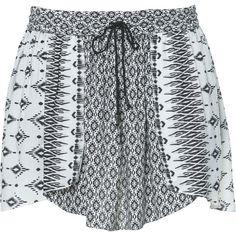 Zara Printed Skirt found on Polyvore