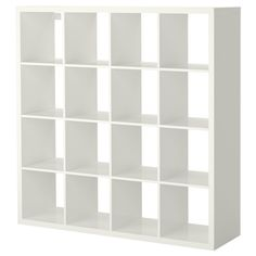 IKEA - KALLAX, Shelving unit, high gloss white, , You can use the furniture as a room divider because it looks good from every angle.