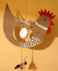 Resultado de imagem para velikonoční tvoření z papíru Easter Crafts For Kids, Fun Crafts, Diy And Crafts, Arts And Crafts, Paper Crafts, Chicken Crafts, Diy Ostern, Easter Printables, Spring Crafts