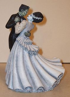 Frankenstein's Monster and Bride of Frankenstein's Monster Cake Topper