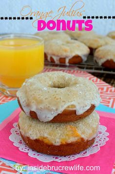 The Highest Three Chicory Espresso Manufacturers - Include A Novel Taste On Your Cup Of Joe Orange Julius Donuts Inside Brucrew Life - Soft Orange Vanilla Donuts Topped With An Orange Glaze Donut Recipes, Brunch Recipes, Breakfast Recipes, Cooking Recipes, Pastry Recipes, Copycat Recipes, Breakfast Ideas, Just Desserts, Delicious Desserts