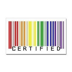 Certified Rainbow Barcode 15 oz Ceramic Large Mug Certified Rainbow Bar Code Large Mug by GriffonPress - CafePress Gay Pride Tattoos, Gay Tattoo, Mom Tattoos, Cute Tattoos, Tatoos, Rainbow Bar, Taste The Rainbow, Gay Best Friend, Pride Quotes