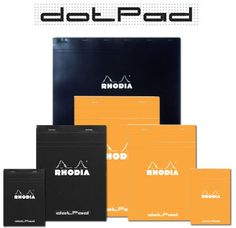 Rhodia Dot Pad Just got one of these today. Really nice light dots and good paper stock for pigma pens. Planning.