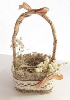 I have a basket that I could turn into something more special and beautiful as this Easter basket!