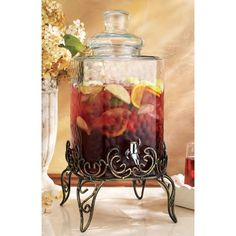 Have to have it. Home Essentials Vintage 2.25 gal. Hammered Dispenser with Iron Stand $39.99