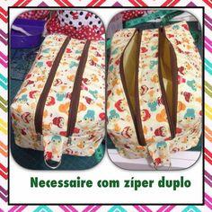 Necessaire box dupla- video- Cleidiane da Costa