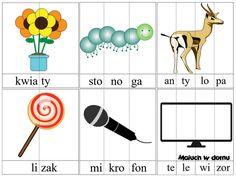 Ilustracje z sylabami do pobrania cz.2 - Maluch w domu Polish Language, Asd, Therapy, Education, Logos, School, Speech Language Therapy, Poland, Logo