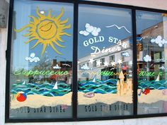 EASTER WINDOW painting art | Window Paintings « The Flamingo's Palette – Custom Cake Designs ...