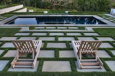Geometric Pool with Grass Deck 84 Fake Grass for Dogs for Contemporary Deck Also. Geometric Pool w Outdoor Rooms, Outdoor Gardens, Outdoor Living, Courtyard Gardens, Outdoor Stairs, Modern Gardens, Small Gardens, Paver Designs, Pool Designs