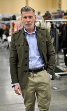 Nick Wooster goes for a more military vibe.