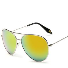 Find More Sunglasses Information about Victoria color film star reflective sunglasses metal frame sun glasses 9937 hemajing pilot big box fashion classic women men,High Quality Sunglasses from NBG AIH on Aliexpress.com