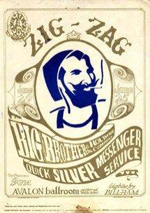 Zig Zag Rolling papers. Vintage concert poster